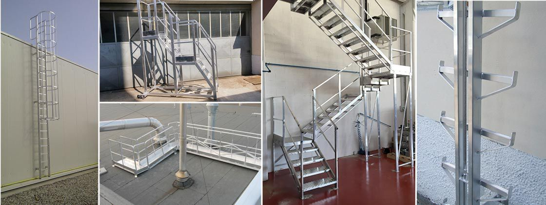 Scalificio Clerici s.n.c. - stairs with protective cage and walkways