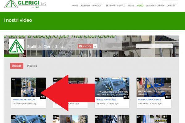 Scalificio Clerici s.n.c. - Nuovo video sul nostro canale Youtube!!!